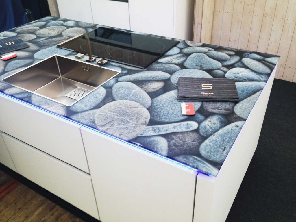 Küchenarbeitsplatte bedruckt von Glavort