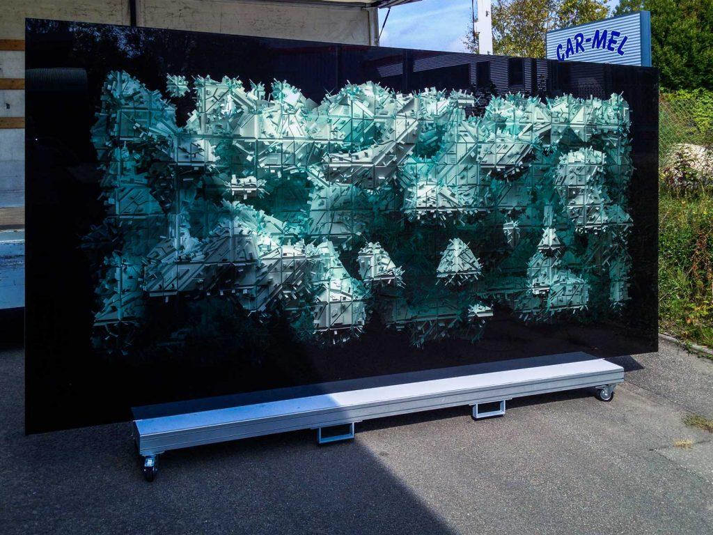 XXL-Kunst auf Glas gedruckt von Glavort