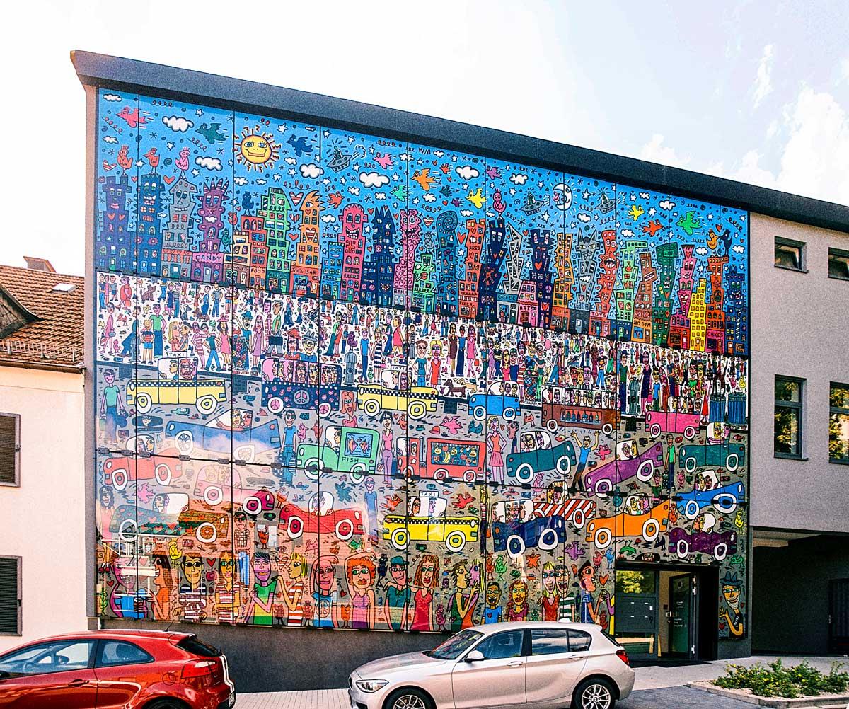 Rizzi-Glas-Fassade von Glavort gedruckt